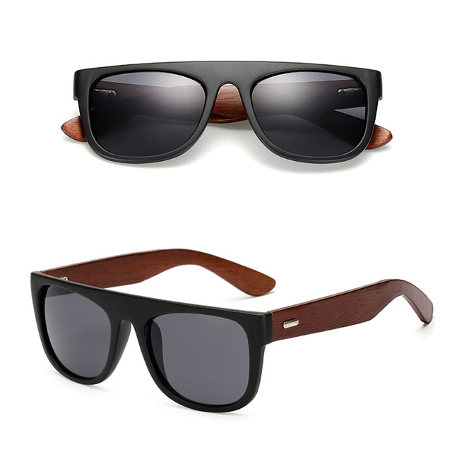 DLK1531 Classic Youth Bamboo Temple Sunglasses Unisex Vintage Wooden Sunglasses OEM <strong>Logo</strong>