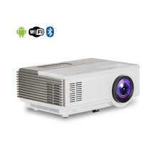 Best selling christmas led mini <strong>projector</strong> android with built-in speaker with Android Wifi Bluetooth