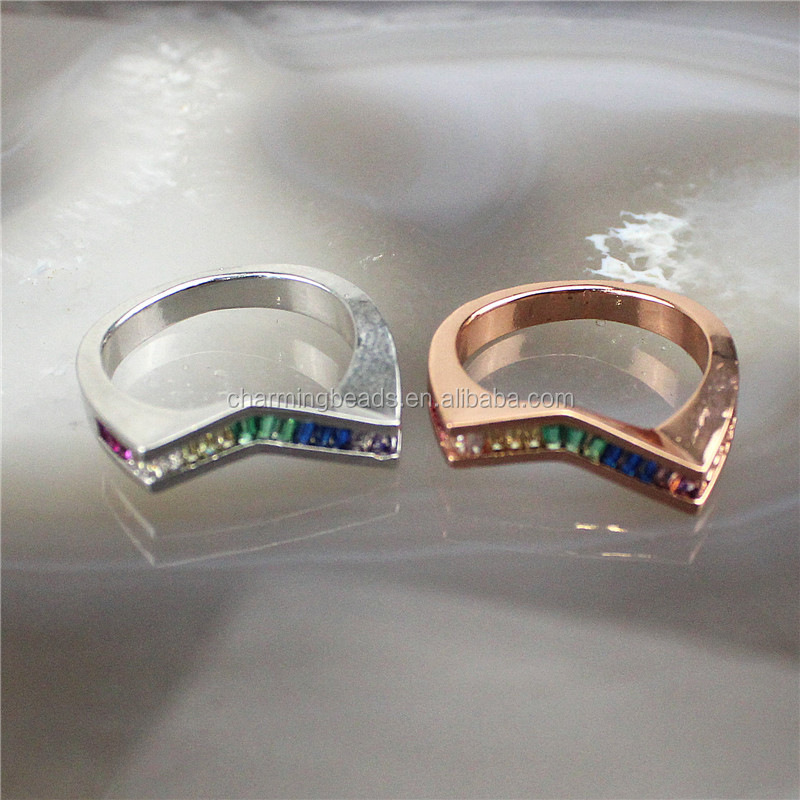 CH-CKR0031 Fashion cubic zirconia micro pave ring,good plating multicolor cz ring,popular cz jewelry cheap wholesale