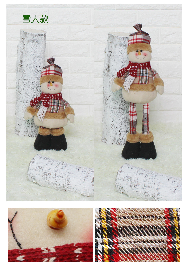 Christmas Father Christmas Decorations Shop Window Decorations Nordic Style Decoration Dolls