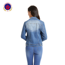 2019 hot clothing women's jean jacket plus size denim jacket