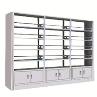 High quality storage book rack shelf modern style OEM acceptable steel library shelves