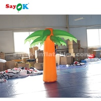 stage decoration items inflatable palm tree with led light