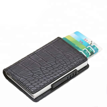 New model cheap mini <strong>wallet</strong> pop up credit card plain PU leather mini automatic snake skin <strong>wallet</strong> for men