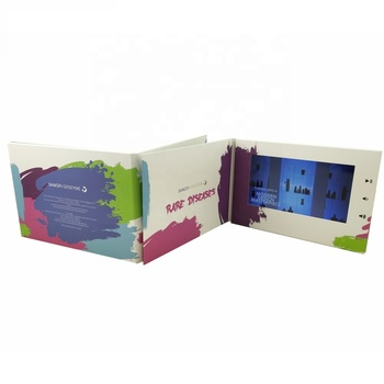 Top Selling With Locked Button 7inch A5 Video Greeting Card /LCD  Video Greeting Brochure For Medical