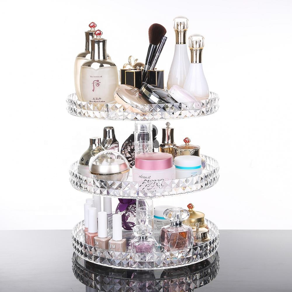 Diamond Shaped <strong>360</strong> Degree Rotation Tabletop Organizer Rotating Make up Organizer <strong>360</strong>