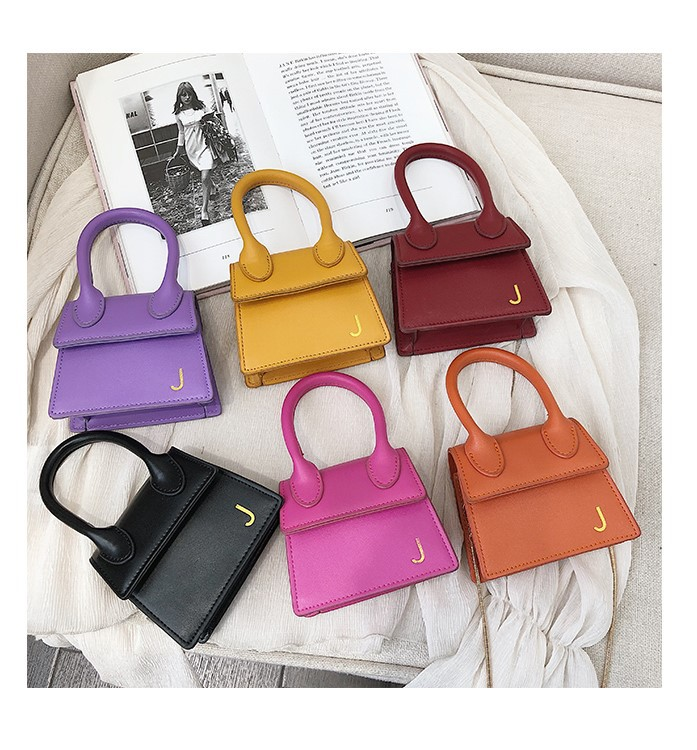 Retail Shop Hottest Candy color women mini leather bags fashion korea cute small crossbody purse for girls 2019