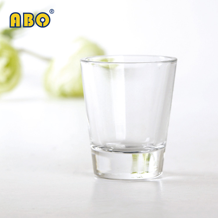 Hgih grade 2oz round small tumbler cup style wine drinking clear shot <strong>glass</strong>