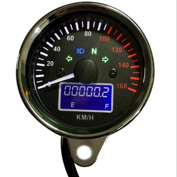 Universal Digital Meter 7 Colors Speedometer Motorcycle