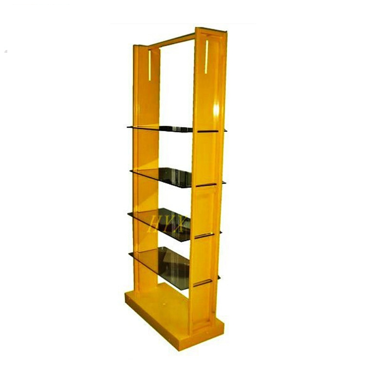perfume glass display stand/new design accessory display rack for retail store/powder coated accessory display stand