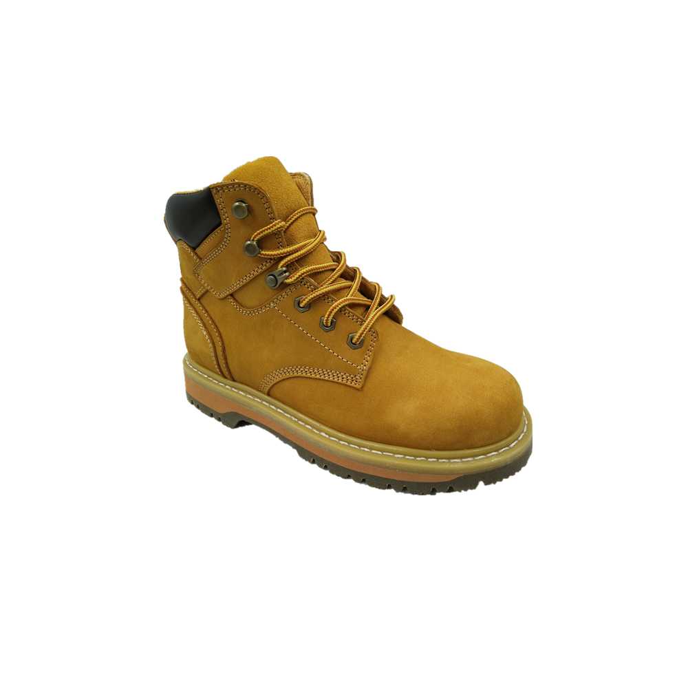 European popular high quality frosted pu injection structure fashion men's work safety boots