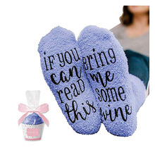 Mothers Day <strong>Gifts</strong> with If You Can Read This Socks Bring Me Some Wine Phrase Wine Socks with Cupcake <strong>Gift</strong> Packaging