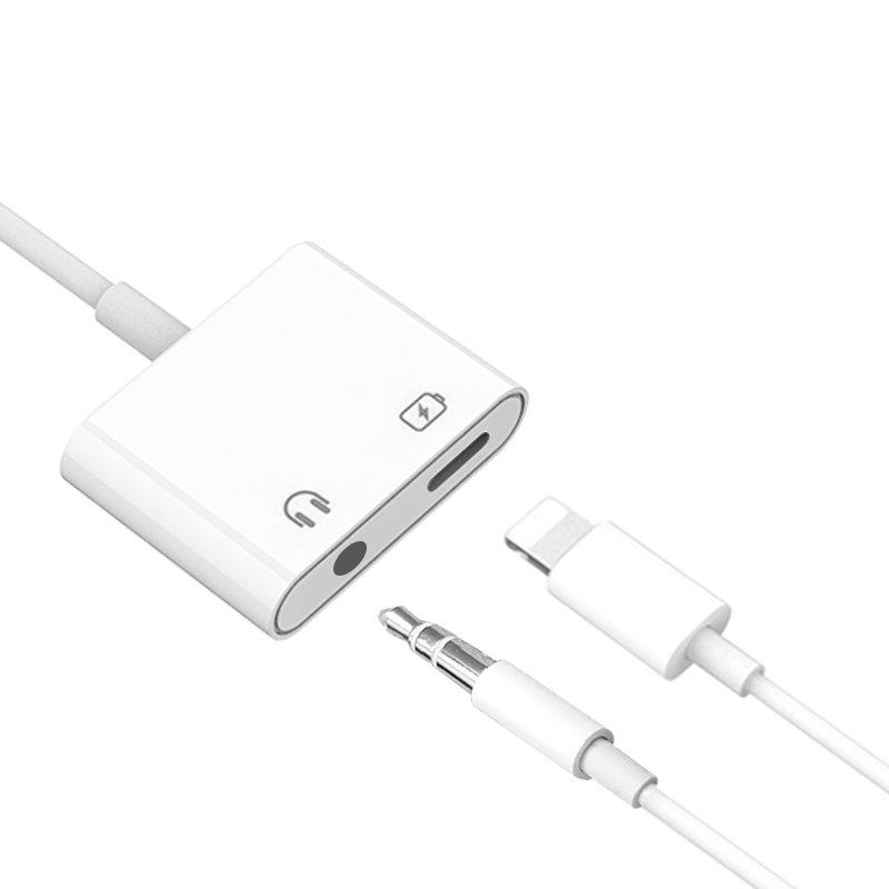 2 in 1 Charger Adapter Cable For Iphone 7/7plus/8/8plus/X Headphone jack adapter charger IOS 12 newest