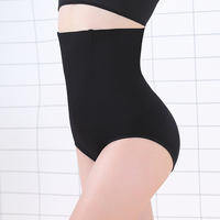 High Waist Slimming Plain Seamless Nylon Spandex Control Panty Shapers Shaping Control Brief for Female
