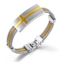 New Product Jewelry Imitation Men And Women Cable Bangle Bracelet, Fashion Jewelry Men Cross Metal Bangle*