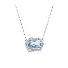 Gemstone Jewelry Topaz White Gold 925 Sterling Silver Jewellery <strong>Necklace</strong>
