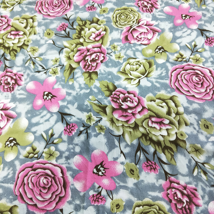 hanliln textile rayon fabric ready goods 100 %rayon printed dress fabric