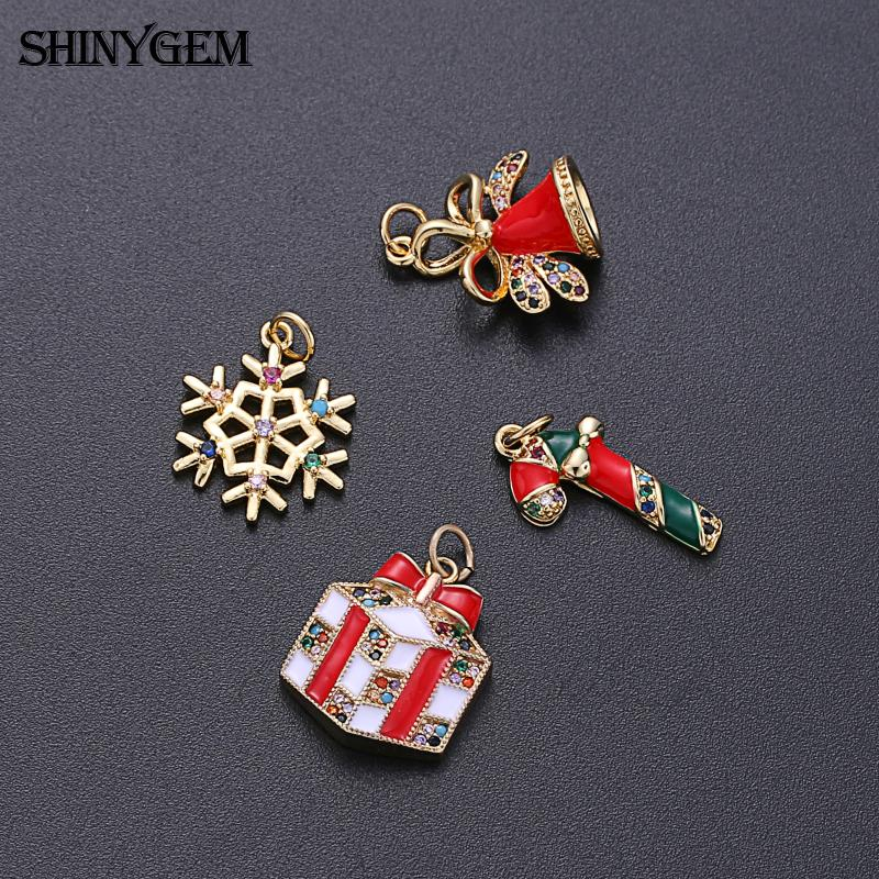 fashion gold plated brass cz colorful crystal micro pave custom merry christmas gifts sets earrings necklace for women