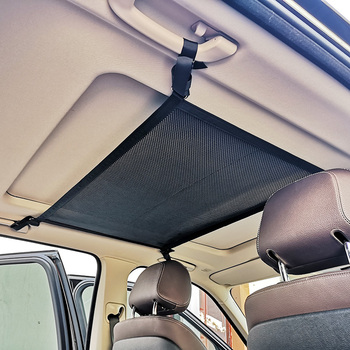 New arrival Car Storage Organizer Mesh Bag Black Vehicle Ceiling Pocket Cargo Net good cars accessories