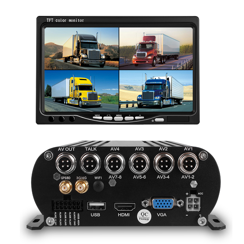 Yoelbaer Original Brand <strong>4</strong> <strong>Channel</strong> 1080P HDD <strong>DVR</strong> Bus Truck Recorder 4G GPS LIVE Streaming