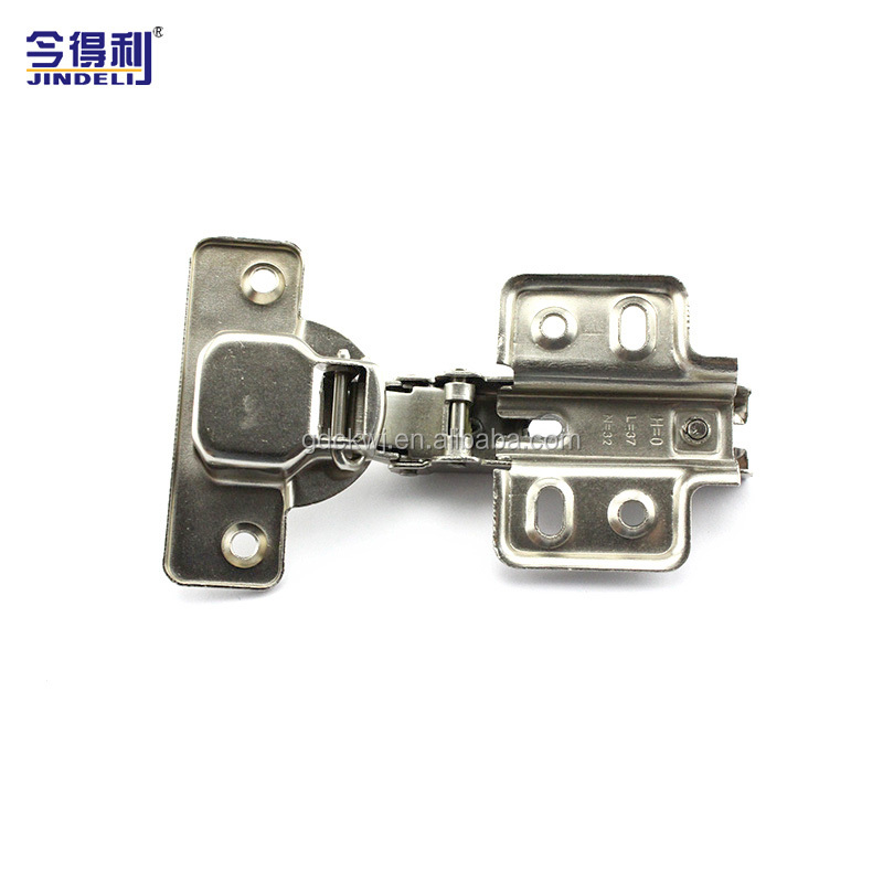 Furniture Hinge Cheap Cold Rolled Steel Plate Nickel Cabinet Hinge Two Way Normal Hinge