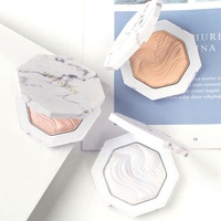 Wholesale HOLD LIVE Marble Waterproof Concealer Highlighter Private Label Face Makeup 3-Color Highlighter Pressed Powder