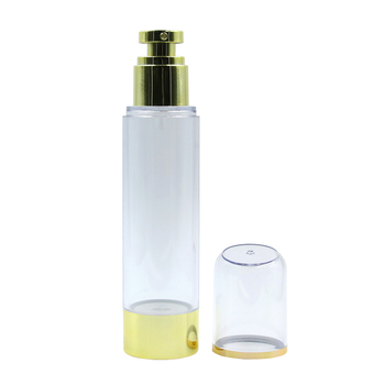 Luxury airless cosmetic pump bottle 30ml 50ml 100ml  transparent airless serum pump bottle
