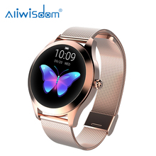 Fashion Women KW10 Smart Watch 2020 Stainless Steel Metal Fitness Bracelet Stopwatch Connect Android IOS <strong>Phone</strong> For Lady