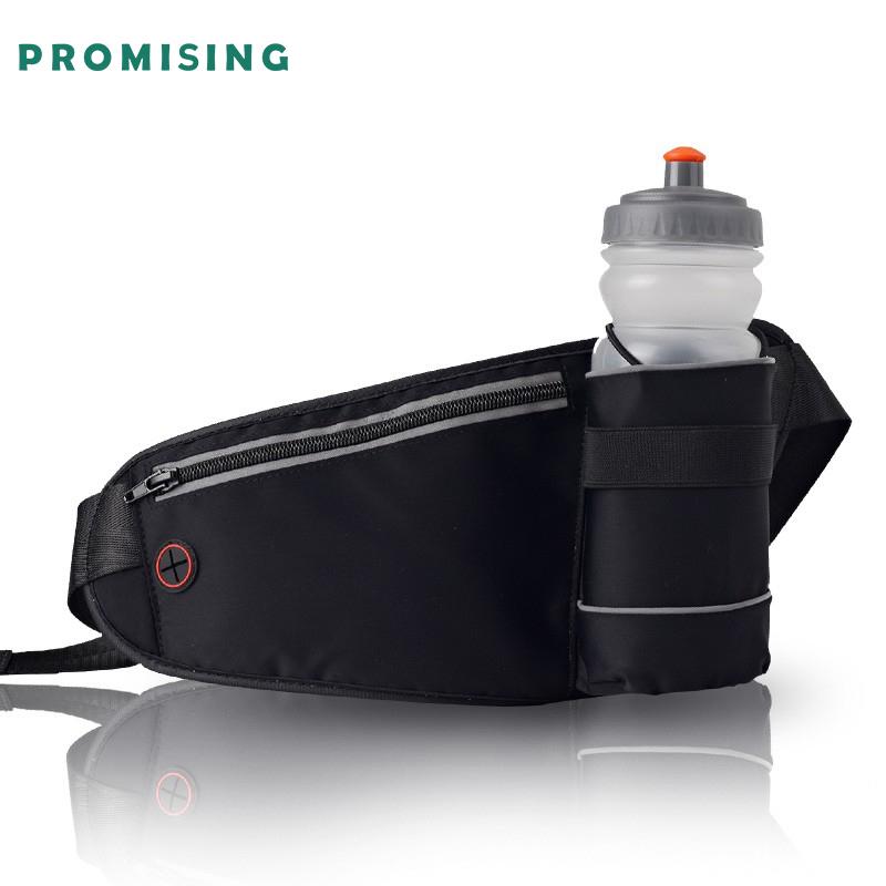 Promising adjustable water bottle elastic reflective waterproof bag neoprene Water bottle holder for running