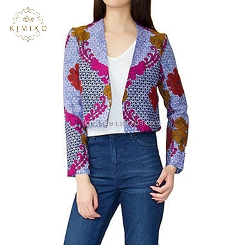 Fashion Design Ethically Sourced Cropped Rosy African Jacket