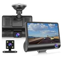 3 Lens Dual Car Dash Cam - New 4'' HD 1080P Vehicle Video Recorder Rearview Camera Driving Monitor car camera