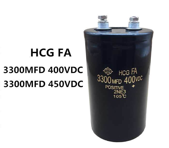 400V 3300uf Aluminium Electrolytic Capacitor load life of 2000 hours at <strong>105</strong> <strong>C</strong> size 64x130