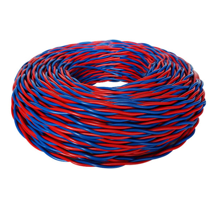 High Quality Rvs <strong>Copper</strong> Twisted Flexible Pvc Electric Cable 0.5mm 1mm 1.5mm 2.5mm 4mm Twisted Pair Fire Alarm Cable