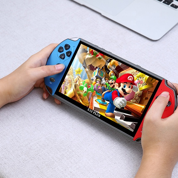 Manufacturer 64bit Game Console Big Screen 7inch 16GB <strong>X12</strong> PLUS Retro Game Console for Handheld Game Player