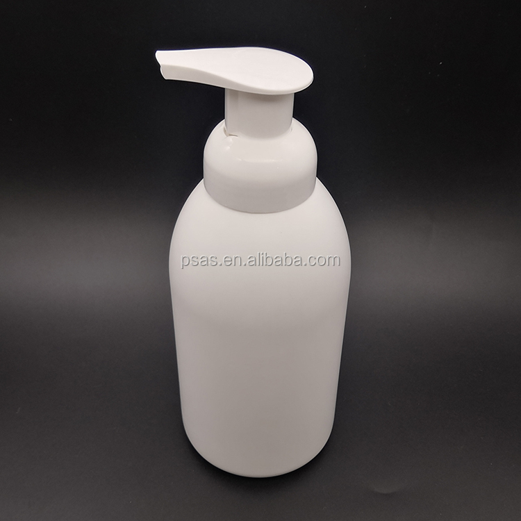 500ml plastic HDPE foam bottle white color plastic bottle with foam pump