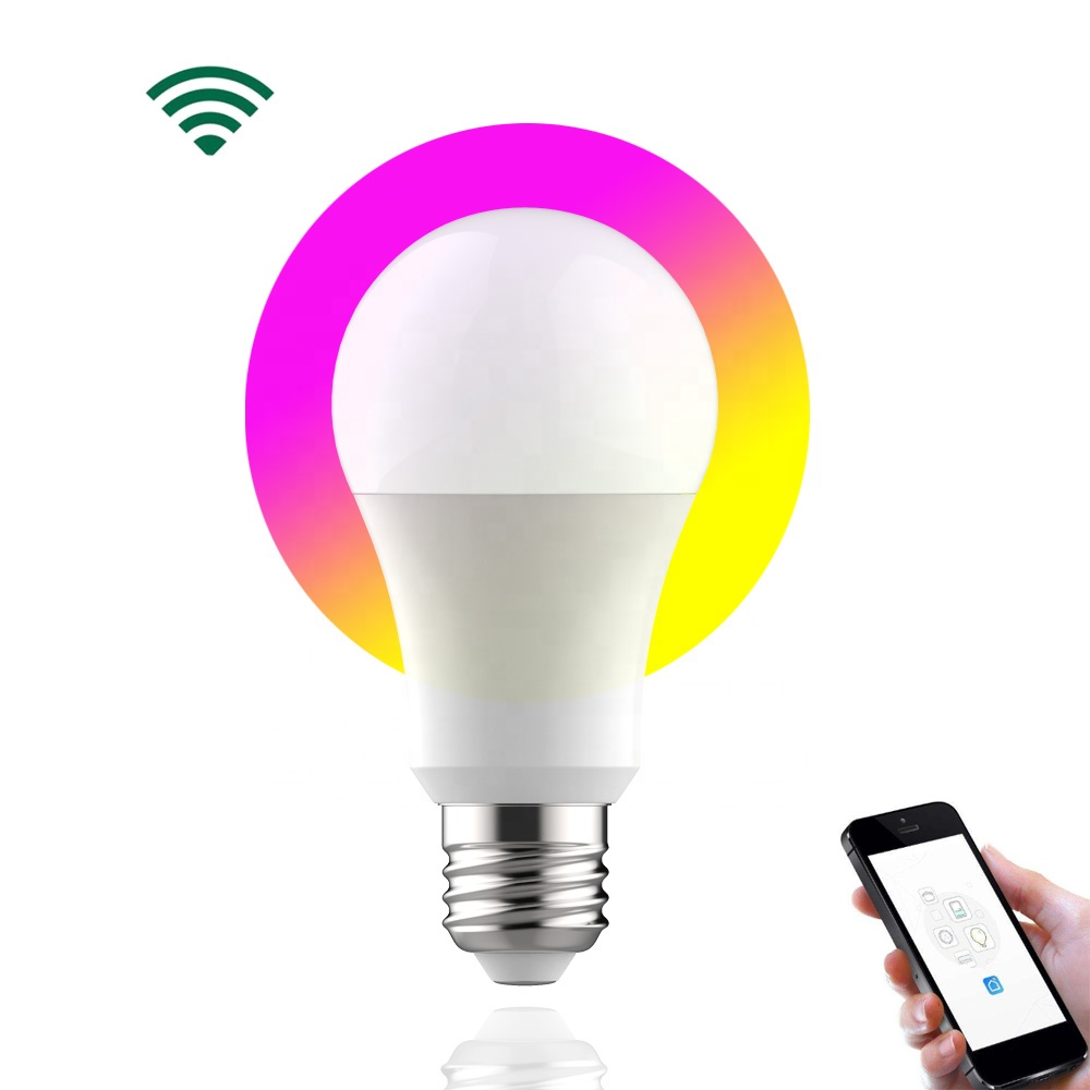 2020 hot new products smart home lighting WIFI RGB led lights led wifi <strong>E27</strong>