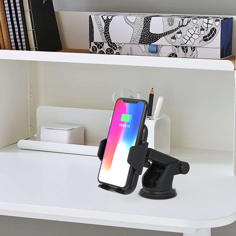 IR Intelligent Sensing <strong>Auto</strong> Clamping <strong>10</strong> W Fast Charging Air Vent Mount Holder for iPhone for Samsung car wireless charger mount