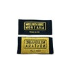 High Density Garment Labels Private Clothing Custom Woven Tag Brands Custom Woven Label Gold Metallic Thread