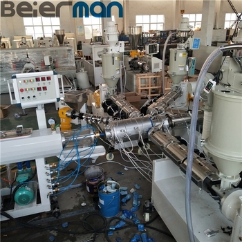CE SGS certificate 1-3 layers High technology PP PE pipe making line extruder machine SJ65 manufacturer