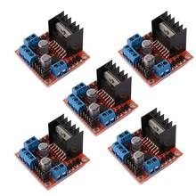 5 PCS L298N Motor Drive Controller Board DC Dual <strong>H</strong>-Bridge Robot Stepper Motor Control and Drives Module for Arduino Smart <strong>Car</strong>