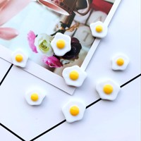 Fried Egg Resin Slime Charms cabochons Ornament or Scrapbook DIY Crafts RES-1366