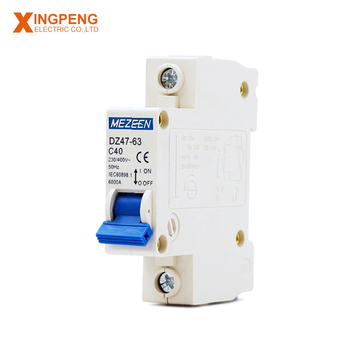General usage safety circuit breaker single pole c45n mcb mini circuit breaker 40a 230v