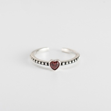 Wholesale design crystal heart gemstone 925 sterling silver antique <strong>ring</strong>