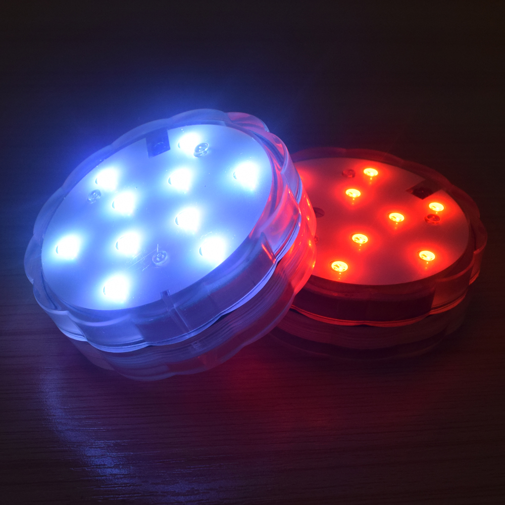 0-LED RGB Submersible LED Light Multi Color Waterproof Wedding Party Vase Base Floral Light