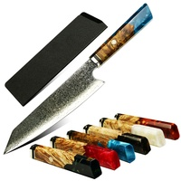 YangJiang Amber 2020 products vg10 Japanese Damascus steel knife wood handle chef knife