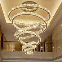 Modern Pendant Ceiling Lamps LED Crystal Chandelier Lights Hanging Light Fixture for Living Room