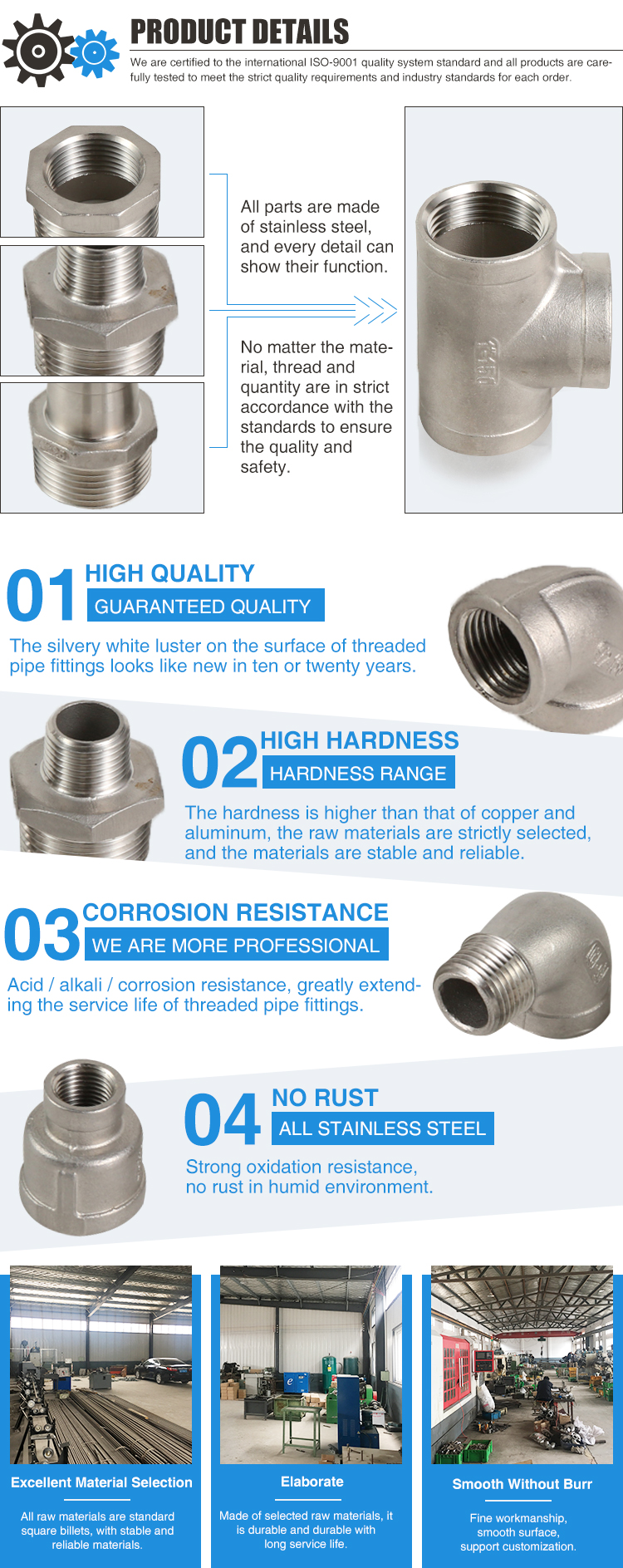 Hot Selling Stainless Steel Elbow 316  Bushing Hydraulic Fitting