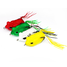 Factory Top Quality 5cm/14g PVC Soft Frog Lure Artificial <strong>Bait</strong> Floating Frog <strong>Fishing</strong> Lure