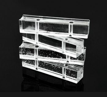 50*50*240mm acid glass brick outdoor decorative glass block with holes