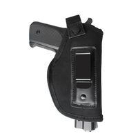 Universal Gun Holster Neoprene Nylon IWB Gun Holster for Glock 17 19 Revolver S&W 9MM .380 Belt Clip